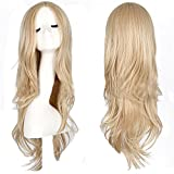 "Homegifts 28"" Women's Hair Wig New Fashion Long Big Wavy Hair Heat Resistant Wig for Cosplay Party Costume (Light Blonde)"