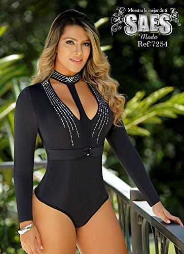 Moda Colombiana Womens Body Shaper Blouse Blusa Fajas Colombianas Ab Control Ref 7254 ONE SIZE (