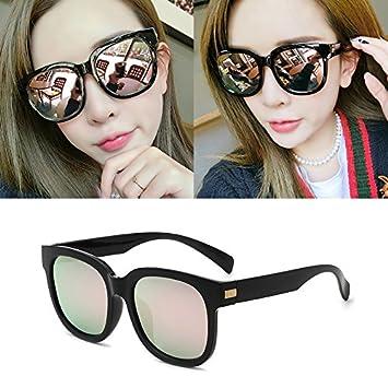 Sunyan Nouvelle série de lunettes de soleil polarisées élégant visage rond hommes Lunettes lunettes actrice coréenne 9836,cadre noir film poudre