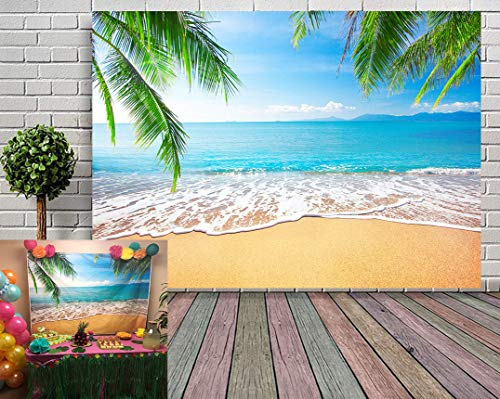 Beach Theme Background (GYA Tropical Beach Background Photo Props For Studio,Wedding,Party Photography Backdrops Vinyl)