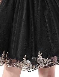 Belle House Women\'s Senior High School Prom Dress Homecomg Sheer Neck Ball Gown Burgundy