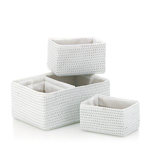 KELA 21781 Korb-Set 5tlg, Unterschiedliche Größen, PP-Kunststoff, Rimossa, Weiß