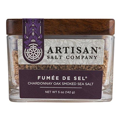 - Fumée de Sel Chardonnay Oak Smoked Sea Salt, Boutique Glass Jar, 5 oz