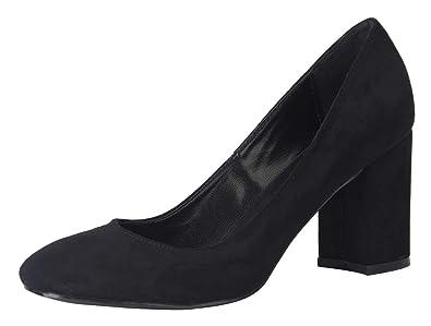 e92c90299 Women's Classic Comfort Closed Toe Slip On Chunky Block Heel Pumps Dress Shoes  Black Velvet Size