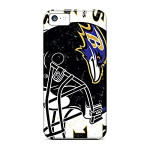 New Snap-on Sandrajh Skin Case Cover Compatible With Iphone 5c- Baltimore Ravens