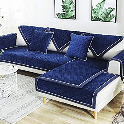 Deep Dream Chenille Sectional Sofa Covers Couch Cover