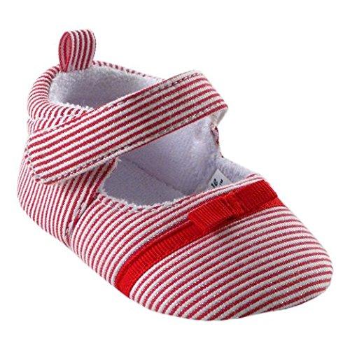 Luvable Amigos bebé niña Mary Jane Stripe Dress Up antideslizante Botines Zapatos rojo Red Stripe Talla:12-18 meses Red Stripe