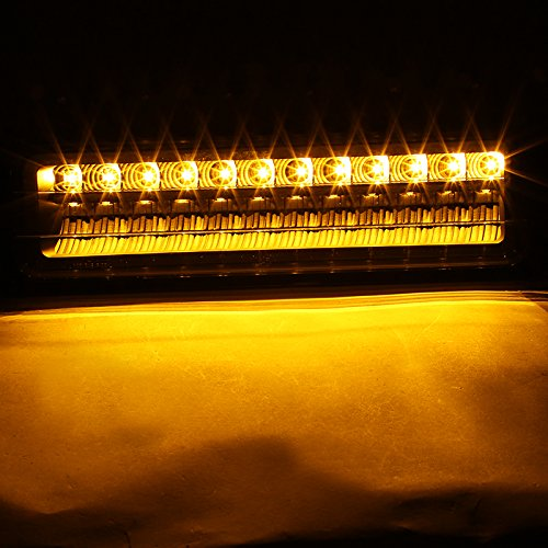 Chevy C10 GMC C//K Black Clear LED Bumper Parking Lights Left+Right