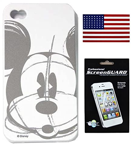 iPhone 5 & 5S Mickey & Minnie Mouse Tinkerbell Disney TPU Silicone Case Bundle w/ a Bonus iPhone 4/4S Screen Protector & Allsales1955 American Flag Vinyl Sticker (Mickey (Disney Iphone 5s Silicone Case)