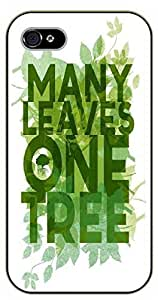 iPhone 5C Many leaves, one tree - black plastic case / Walt Disney And Life Quotes