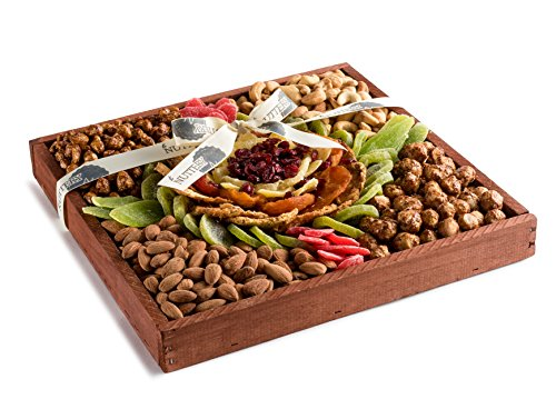The Nuttery MEGA Premium Fresh Dried Fruit and Nuts Gift Platter, Great Gift Giving (Nut Platter)