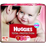 Huggies Total Protection Medium Size Diapers (58 Count)