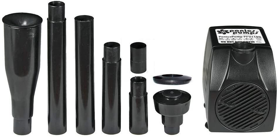 PonicsPumps Submersible Pump for Hydroponics, Aquaponics, Fountains, Ponds, Statuary, Aquariums & More. Comes with 1 Year Limited Warranty. (211 GPH : Fountain Kit) : Garden & Outdoor