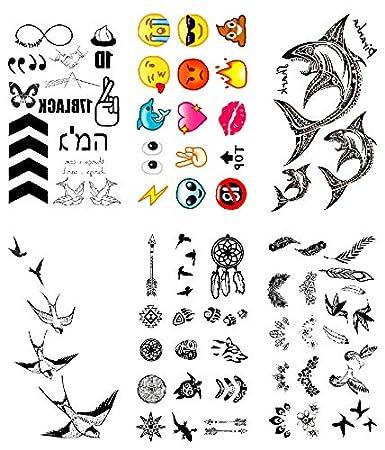 Oottati 6 Hojas Pequeño Lindo Tatuaje Temporal Tattoo Flecha Dedo ...