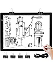 Light Box for Tracing- Light Board for Diamond Painting Art Ultra Thin Light Pad for Drawing Sketching Animation Stencilling DONPODER