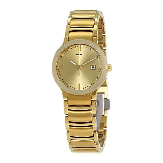 Rado R30528253 - Reloj para mujeres, correa de acero inoxidable color dorado: Amazon.es: Relojes