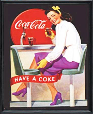Amazon com: EuroGraphics Coca-Cola  Have a Coke - Girl in