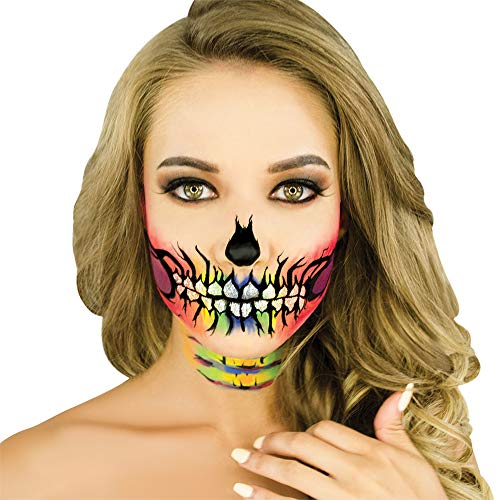 Woochie Water Activated Makeup Kit - Professional Quality Halloween and Costume Makeup - Rainbow -