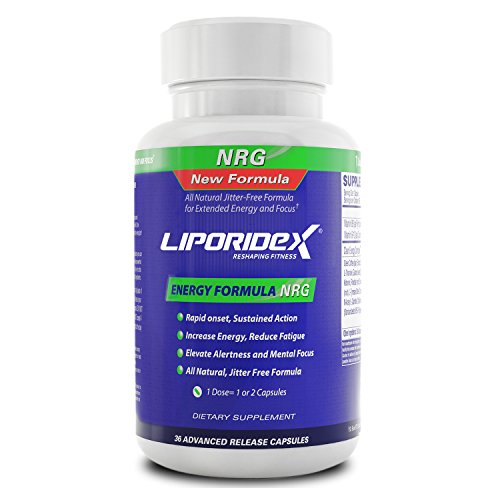 LIPORIDEX NRG - Nootropic Energy Supplement for Increased Focus and Concentrating Ability - 36 Brain Boosting Pills