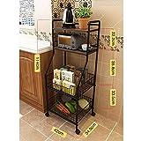 Kitchen shelf HUO Estante De Cocina Estante De Almacenamiento Multipropósito De Cocina Multifunction (Color : Nogal)