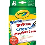 Crayola 8 Dry Erase Crayons, School and Craft Supplies, Gift for Boys and Girls, Kids, Ages 5, 6,7,8 and Up, Arts and Crafts,  Gifting