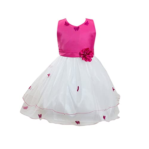 EXIU Baby Girls Kids Summer Sequins Polka Dots Party Birthday Tulle Dress 2-7Y
