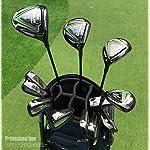 WYSTAO-Mens-Golf-all-Hybrid-Partial-Sewith-Bag-Graphite-Golf-Set-Mens-Black-ColorGolden-Color
