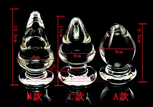 Hetam 5 pcs/lot,5 style big glass anal plug,gay sex toys for men woman large glass butt plug,erotic toys dildo anal beads toy buttplug by Hetam