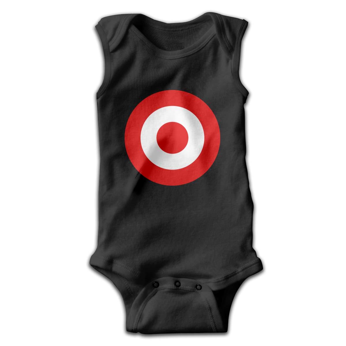 e160b5895 Amazon.com: Red Target Bullseye Baby Girls Sleeveless Onesies Infant:  Clothing
