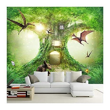 YUANLINGWEI Casa Del Árbol De Dinosaurio Del Bosque De La Alta Definición 3D Decoración Del Sitio De La Habitación De Los Niños: Amazon.es: Bricolaje y ...