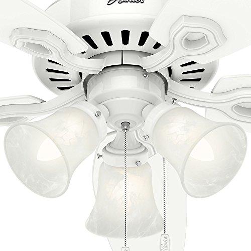 Hunter 53236 Builder Plus 52-inch Ceiling Fan, Snow White by Hunter Fan Company (Image #7)'