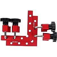 2 Stuks 90 Graden Positionering Vierkanten Met 4 Haakse Hoekklem, Aluminiumlegering Houtbewerking Timmerman Tool Voor…