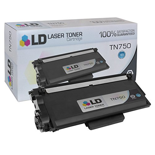 LD Compatible Toner Cartridge Replacement for Brother TN750 High Yield (Black)