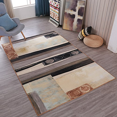 Abstract Feeling Home Rugs Art - MeMoreCool No Fading Anti-slipping Modern Patterns Living Room Tea Table Carpets 63 X 91 (Tea Bag Tiles)