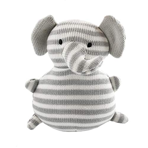 Houwsbaby Elephant Knitted Hand Craft Stuffed Animals Baby Plush Toy Easter Gift, Gray (Elephant)