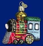 Old World Christmas Small Train Locomotive Glass Ornament #46003
