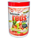 Greens World Delicious Reds 8000 Supplements, Fruit Punch, 10.6 Ounce