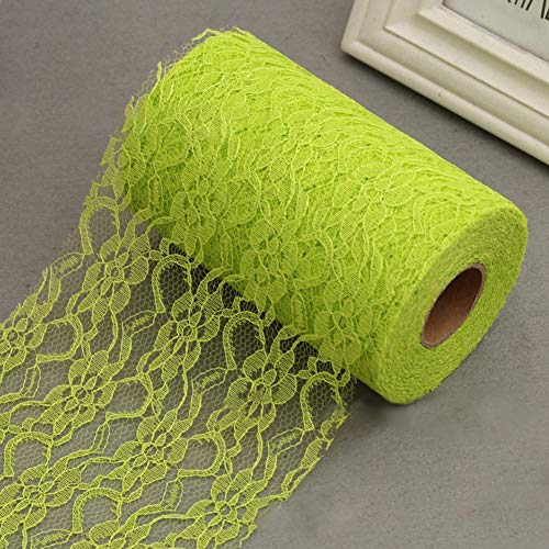 (Print Table Runner - Lace Roll Table Runner Chair Sash Bouquet Venue Brithday Gift Decoration Yellow - Party Decorations Party Decorations Tablecloth Yellow Pink Runner Table Crochet Cot)