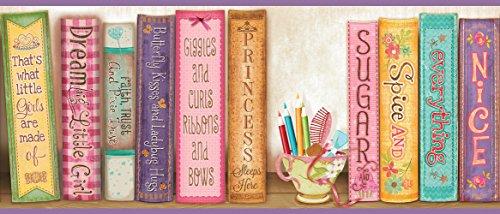 Chesapeake HAS01061B Vivi Purple Sugar and Spice Bookshelf Wallpaper Border