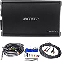 Package: Kicker 43CXA12001 1200 Watt RMS Mono Class D Car Audio Amplifier With 3-Way Protection + Rockville RWK4CU 100% Copper Full-Spec 4 AWG Complete Car Amplifier Installation Kit