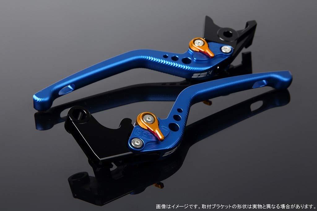 SSK アジャストレバー 3Dロング レバー本体カラー:マットブルー アジャスターカラー:マットゴールド LVEM062BE-GD B07MXBBRXQ