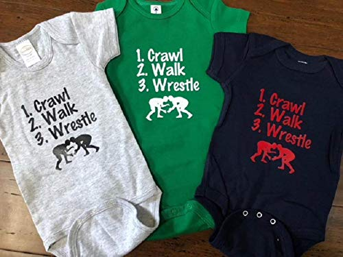 crawl walk wrestle baby onesie wrestling infant one piece