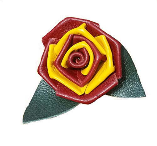 Comic Con Denver Costumes (Gryffindor colors Leather Rose Flower - 49ers - Made in USA)