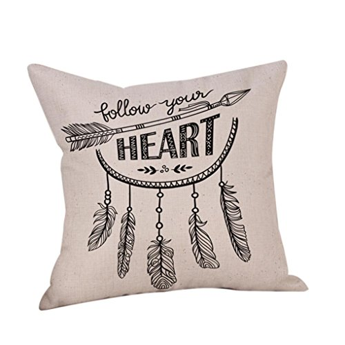 Indigo Letter Pillow (Woaills - 45cm x 45cm Letters Quote Words Scenic Pillowcase Eco-Friendly Square Cushion Cover Home Decor (A))