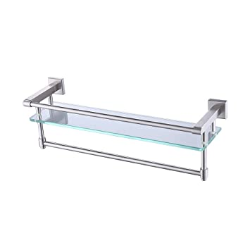 Amazoncom Kes Sus304 Stainless Steel Bathroom Glass Shelf Wall
