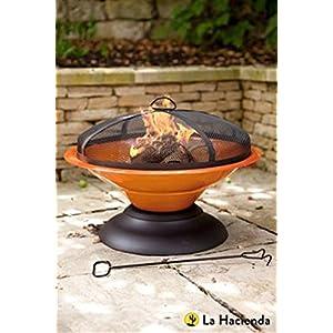51beCjNyLaL. SS300  - La Hacienda 58169 Enamelled Moda Fire Pit - Orange