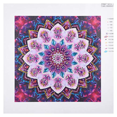 - DIY 5D Diamond Picture, vmree Special-Shaped Partial Drill Rhinestone Embroidery Painting Crystals Pasted Handcraft Cross Stitch Handiwork Kits Visual Home Decor (Mandalas - 03, 9.8