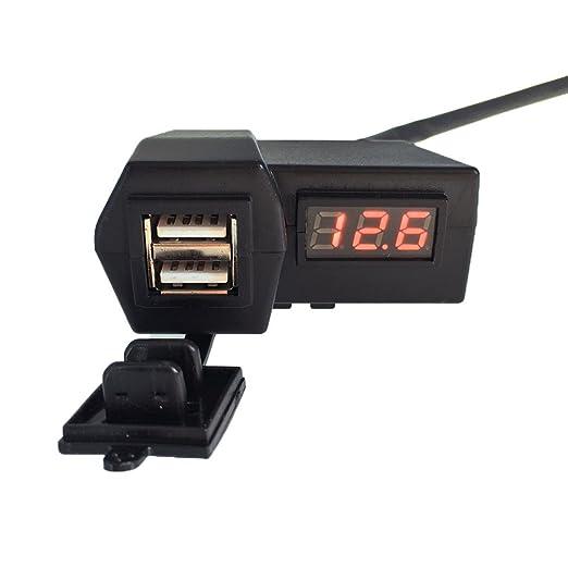 18 opinioni per WINOMO USB caricabatteria da moto con LED digitale Display voltmetro tensione