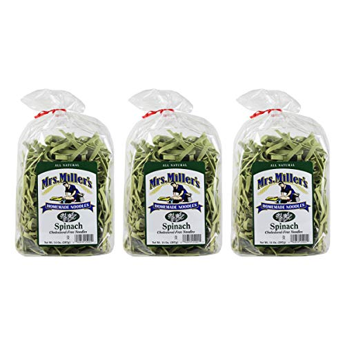 (Mrs. Miller's Homemade Noodles, Spinach, 14 OZ (Pack of 3))
