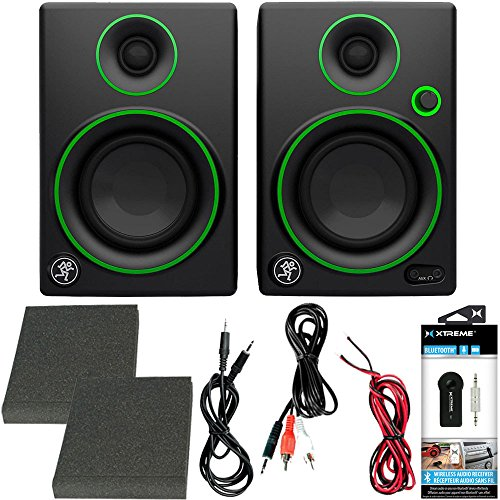 """Price comparison product image Mackie CR Series CR3 - 3"""" Creative Reference Multimedia Monitors (Pair) + Includes Bluetooth 2-in-1 Wireless Audio Receiver"""